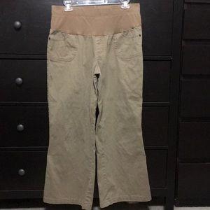 a.n.a  maternity khaki pants- Short Length